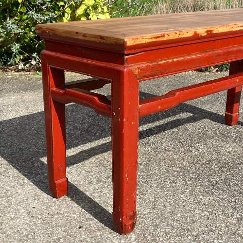 Oriental Style Pine Bench image-2