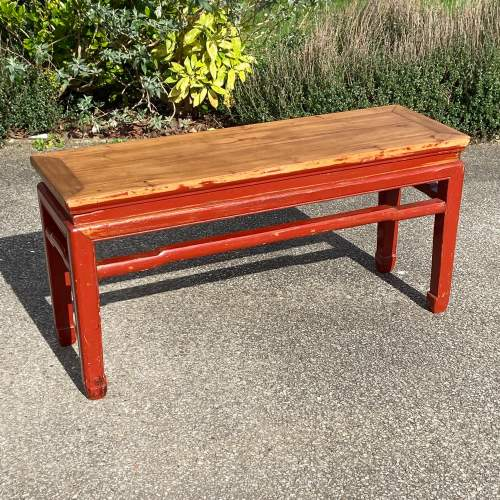 Oriental Style Pine Bench image-1