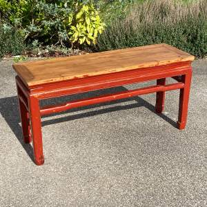 Oriental Style Pine Bench