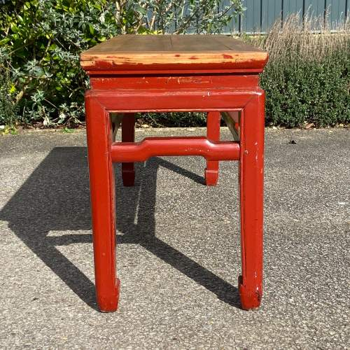 Oriental Style Pine Bench image-4