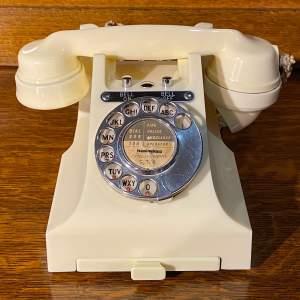 Vintage 300 Series Ivory Bakelite Telephone