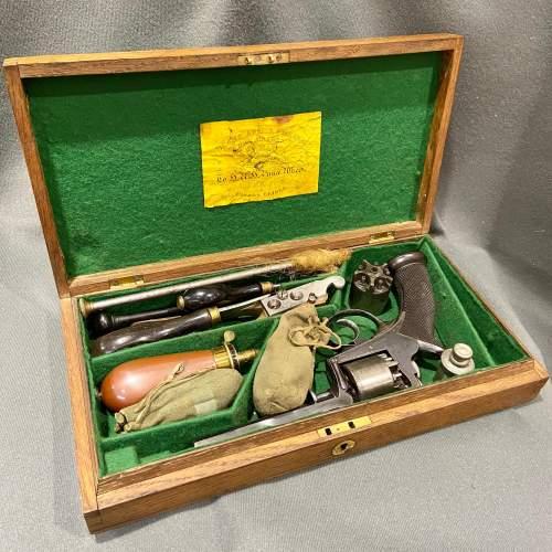 Cased 120 Bore 5-Shot Percussion Revolver image-1