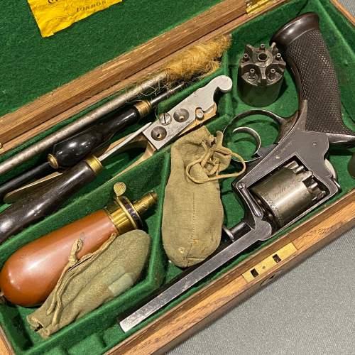 Cased 120 Bore 5-Shot Percussion Revolver image-3