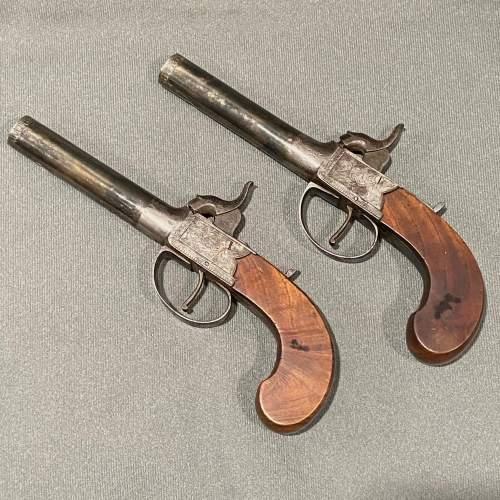 Cased Pair of Percussion Box Lock Pistols image-5