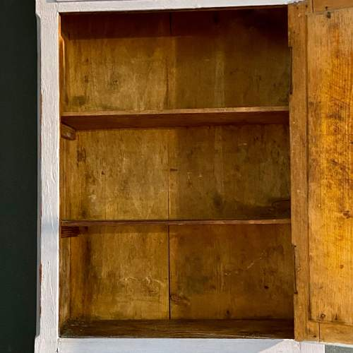 1930s French Blue Painted Oak Bathroom Wall Cabinet image-3