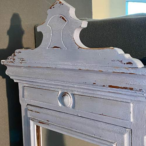 1930s French Blue Painted Oak Bathroom Wall Cabinet image-4