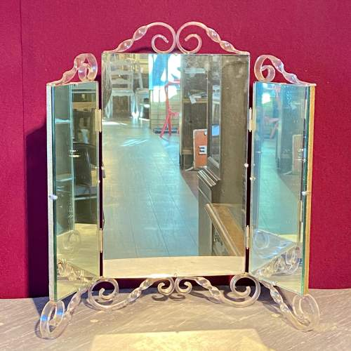 Vintage 1940s Astonia Trifold Dressing Table Mirror image-1