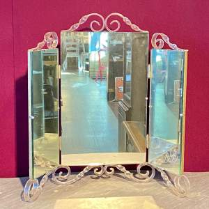 Vintage 1940s Astonia Trifold Dressing Table Mirror