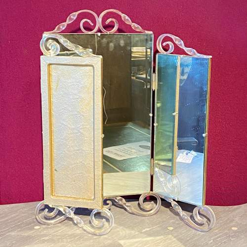 Vintage 1940s Astonia Trifold Dressing Table Mirror image-2