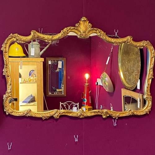 Antique Baroque Landscape Gilt Metal Mirror image-1