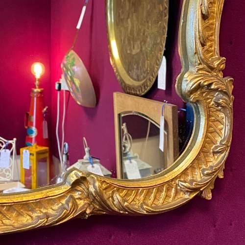 Antique Baroque Landscape Gilt Metal Mirror image-3