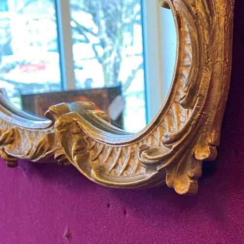 Antique Baroque Landscape Gilt Metal Mirror image-4