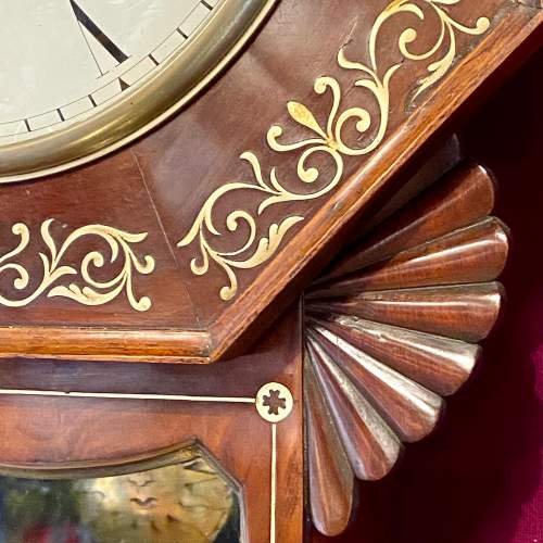 English 19th Century Drop Dial Fusee Wall Clock by Wilson of Stamford image-5