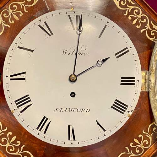 English 19th Century Drop Dial Fusee Wall Clock by Wilson of Stamford image-4