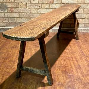 Early 20th Century French School Hall Bench