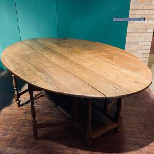 Large Antique Oak Gateleg Wake Table
