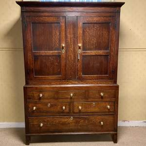 18th Oak Livery Cupboard