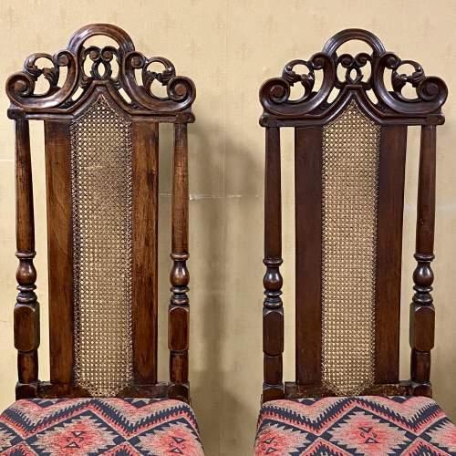 Pair of Walnut Charles II Chairs image-2