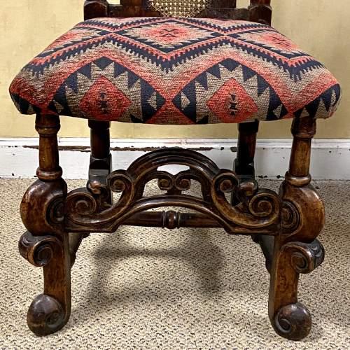 Pair of Walnut Charles II Chairs image-3