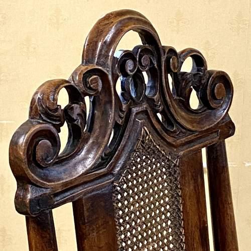 Pair of Walnut Charles II Chairs image-5