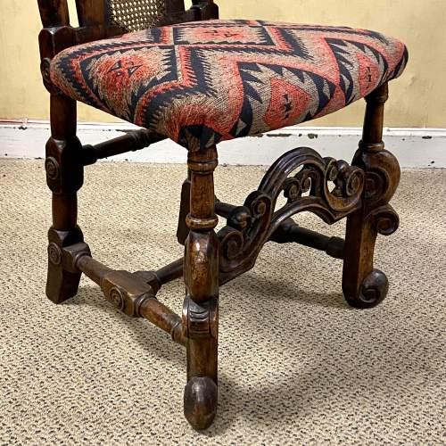 Pair of Walnut Charles II Chairs image-6