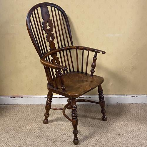 Yew Wood Windsor Chair by Allsop of Worksop image-1