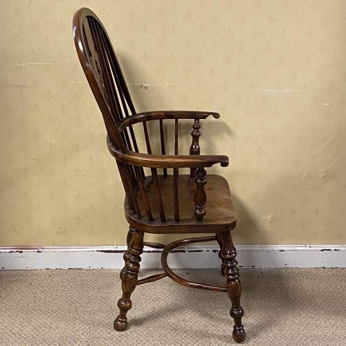 Yew Wood Windsor Chair by Allsop of Worksop image-2