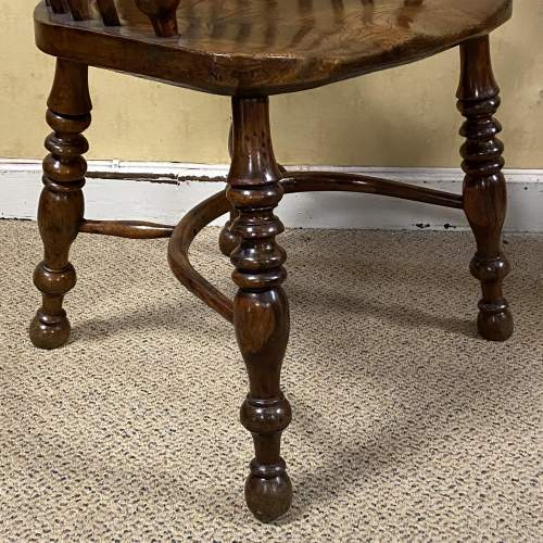 Yew Wood Windsor Chair by Allsop of Worksop image-4