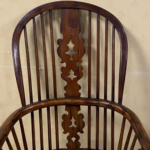 Yew Wood Windsor Chair by Allsop of Worksop image-3