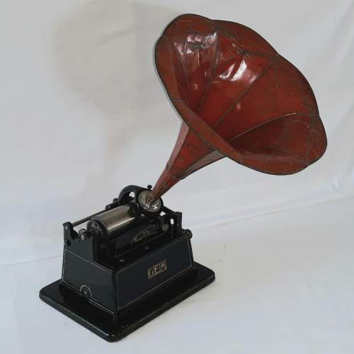 Edison Little Gem Phonograph with a Morning Glory Horn image-2