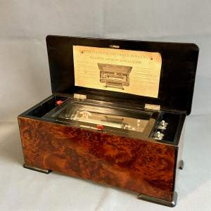 Paillards Amobean Victorian Cylinder Music Box