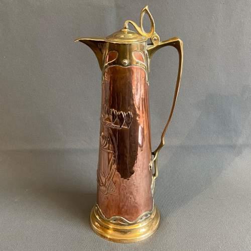 Art Nouveau Copper Jug by Carl Deffner image-1