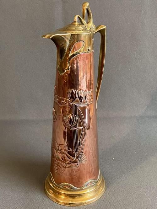 Art Nouveau Copper Jug by Carl Deffner image-5
