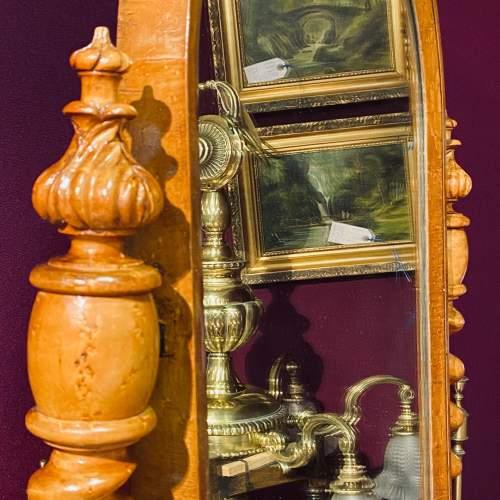 Victorian Birds Eye Maple Dressing Table Mirror image-4