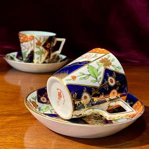 Royal Crown Derby Pair of Cups and Saucers