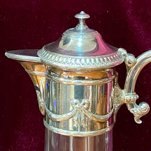 WMF Victorian Silver Plate and Glass Claret Jug image-2