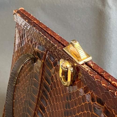Vintage Genuine Snakeskin Handbag image-2