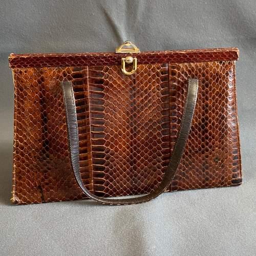 Vintage Genuine Snakeskin Handbag image-1