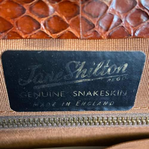 Vintage Genuine Snakeskin Handbag image-4