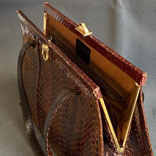 Vintage Genuine Snakeskin Handbag image-3