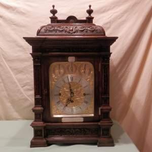 Quality Oak Cased Triple Fusee Bracket Clock striking on Eight Bells
