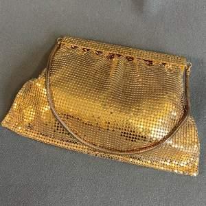 1950s Vintage Gold Mesh Evening Bag