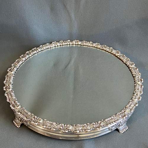 Late Georgian Mirrored Silver Plated Cakestand image-6