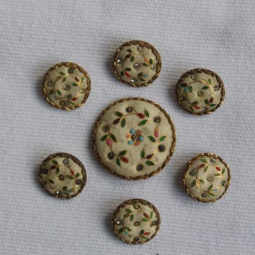 18th Century Gentlemans Waistcoat Buttons image-1