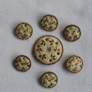 18th Century Gentlemans Waistcoat Buttons