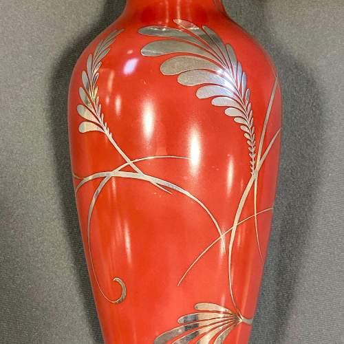 Friedrich Deusch Rosenthal Vase with Silver Overlay image-2