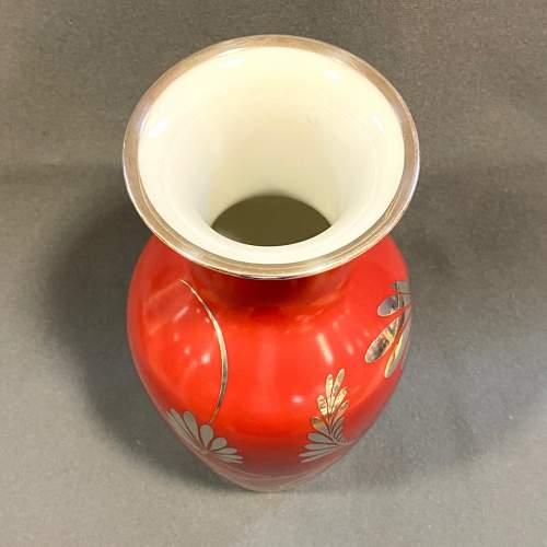 Friedrich Deusch Rosenthal Vase with Silver Overlay image-3