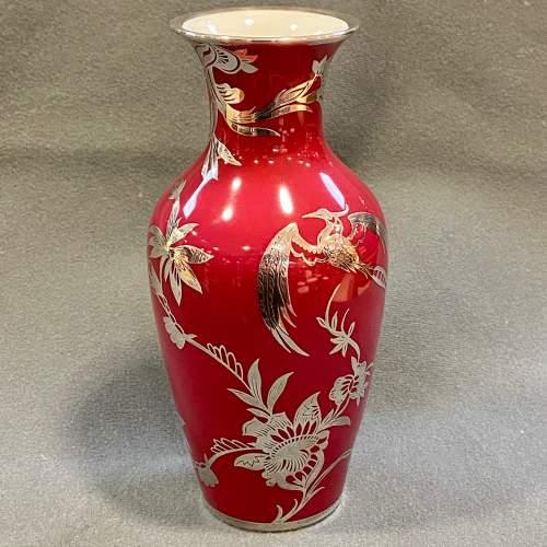Rosenthal Friedrich Deusch Silver Overlay Vase image-1