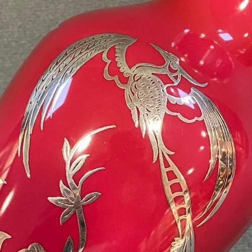 Rosenthal Friedrich Deusch Silver Overlay Vase image-3