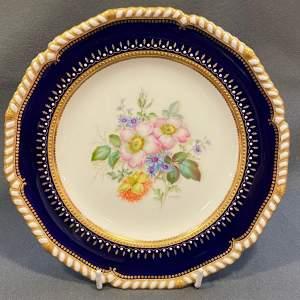 Royal Crown Derby Albert Gregory Floral Painted Plate
